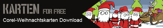 Karten for free - Corel Weihnachtskarten Download